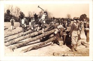 Military~Building A Bridgehead~Army Signal Corps Photo~1940s WWII RPPC
