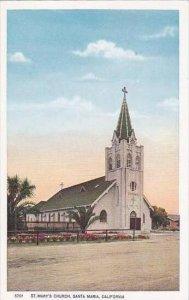 California Santa MAria Saint Marys Church