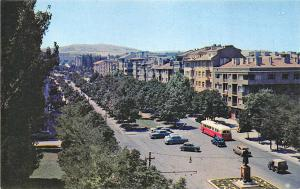 Ankara Turkey View of Ataturk Boulevard Bus Postcard