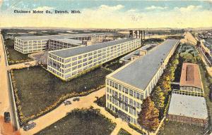 Detroit MI Chalmers Motor Co. in 1918 Postcard