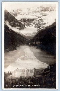 BYRON HARMON RPPC #642 CHATEAU LAKE LOUISE ALONG CANADIAN PACIFIC RAILWAY LINE