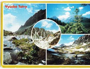 Slovakia, Vysoke Tatry, The High Tatras, used Postcard