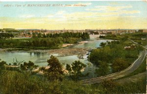 NH - Manchester. Mills Along the Merrimack River circa 1907