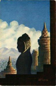CPA AK Indonesia Kuno Schweers - Painter (360274)