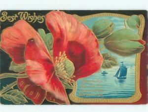 Divided-Back BEAUTIFUL FLOWERS SCENE Great Postcard AA2654
