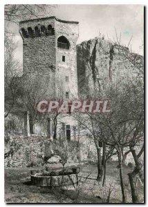 Postcard Modern Castellane B S pentagonal tower deep N D Roc
