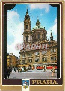 Postcard Modern Praha St Nicolas Cathedral