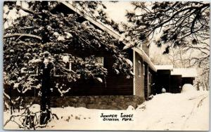 1917 Colorado Springs CO RPPC Real Photo Postcard STRATTON PARK Juniper Lodge