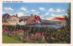 The Skipper, Nantucket, Massachusetts, Early Linen Postcard, Used in 1954