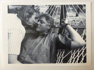 Bill and Hillary Clinton in a hammock