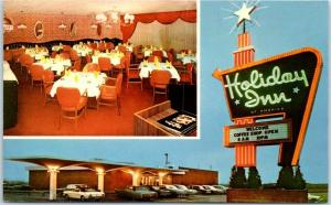 Richmond, Kentucky Postcard HOLIDAY INN Front View I-75 Roadside 1971 Cancel