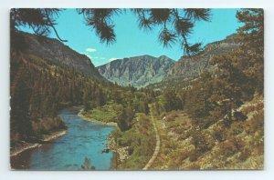 Rio Grande River Highway 149 Southfork Creed Fishing Colorado CO Postcard