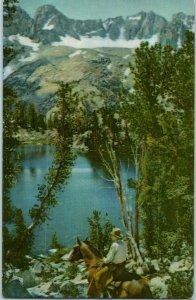 Summit Lake High Sierras Palisade Glacier Union Oil Co # 42 California Postcard