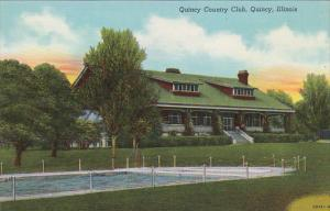 Illinois Quincy Country Club and Swimming Pool Curteich