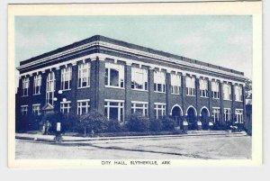 PPC POSTCARD ARKANSAS BLYTHEVILLE CITY HALL FRONT EXTERIOR VIEW