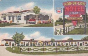 Kentucky Walton Pon-De-Leon Motel 1956 sk1331