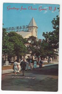 Greetings From Ocean Grove NJ Auditorium Sunday Services Vintage Postcard