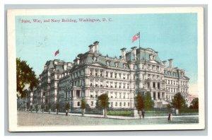 Vintage 1913 Postcard Panoramic View State War & Navy Building Washington DC