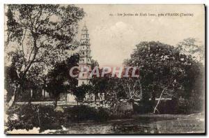 Old Postcard The Gardens Of Kiah Luoc Pres D & # 39Hanoi Tonkin Vietnam