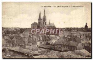 Old Postcard Moulins Vue Generale taking the Tour St Gilles