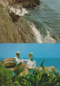 Women Diver Diving In Shima Japan Japanese 2x Postcard