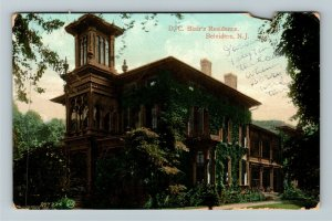 Belvidere NJ-New Jersey, D C Blair's Residence, Vintage c1913 Postcard