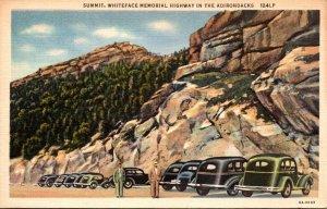 New York Adirondacks The Summit Whiteface Memorial Highway Curteich