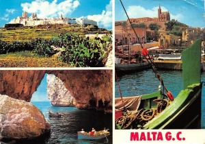 Malta G.C. Mdina Blue Grotto Mgarr Harbour Boats General view