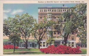 Alabama Moblie azaleas In Bienville Square And Cawthon Hotel