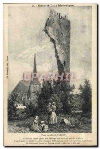 Postcard Old Eure et Loir historic Tour de Gallardon