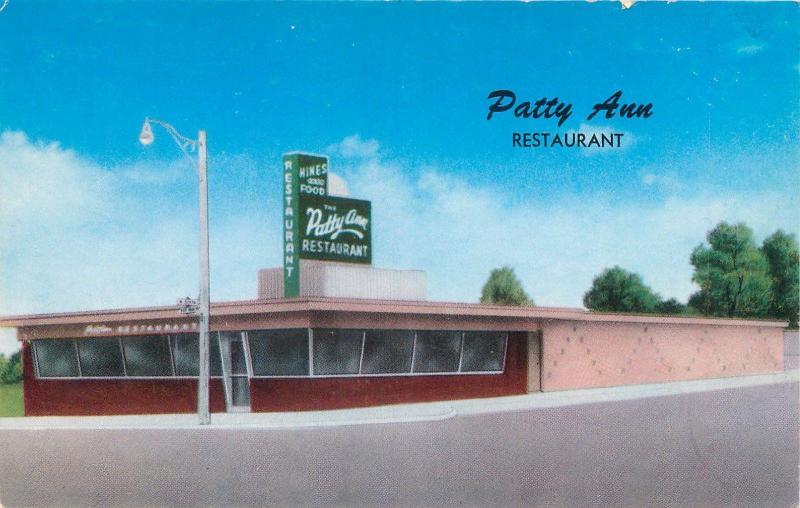 Henryetta Oklahoma Ok Patty Ann Restaurant Roadside C1950s Postcard