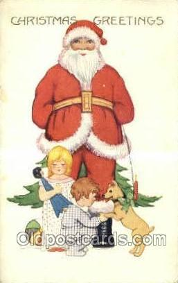 Christmas, Santa Claus Postcard Post card