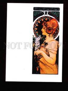 020324 ART NOUVEAU Lady by Alphonse MUCHA modern
