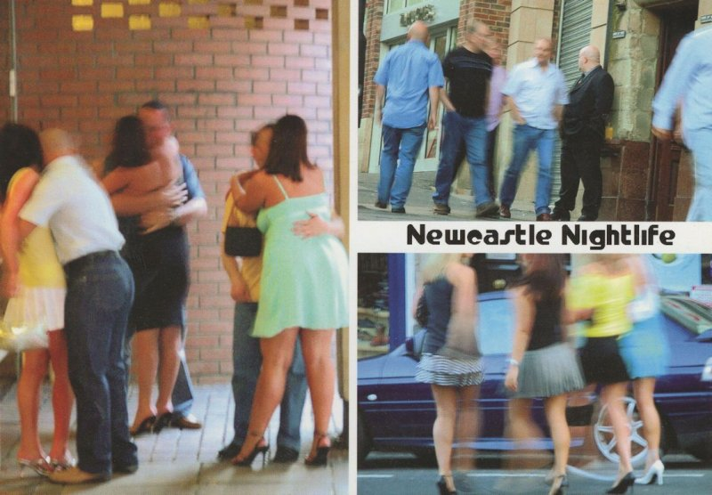 Newcastle Nightlife Night Club Risque Groping Comic Postcard