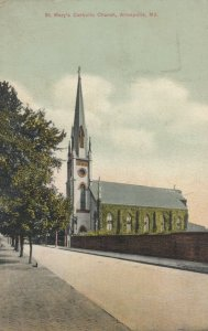 ANNAPOLIS , Maryland , 1900-10s ; St Mary's Catholic Church