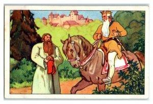 Wanderer Tells King about the Golden Bird, Echte Wagner German Trade Card *VT31T