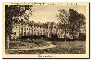 Postcard Old Dourgne Abbey of St Benoit & # 39En Calcal Vue Generale West