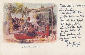 Navajo Blanket Weaver , 1905