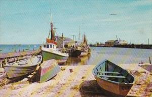 Massachusetts Cape Cod Provincetown Waterfront Scene 1960
