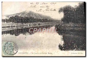 Old Postcard Cherbourg Canal and Fort du Roule