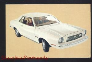 1974 FORD MUSTANG II 2 VINTAGE CAR DEALER ADVERTISING POSTCARD