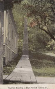 GALENA, Illinois, 00-10s; Stairway Leading to High School