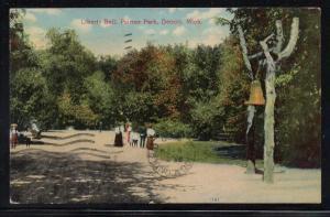 Michigan Liberty Bell Plamer Park colour PC 1909