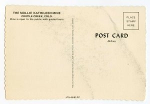 Postcard The Mollie Kathileen Mine Cripple Creek Colo. Continental View Card
