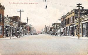 Wayne Nebraska~Main St~Carpet Store~Meat Market~Bakery~1908 Postcard