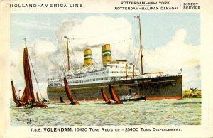 Holland-America Line - TSS Volendam    Artist: Dixon