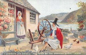 Wales Y Forwyn a'r Droell, The Maid by the Spinning Wheel, Folk, Costumes