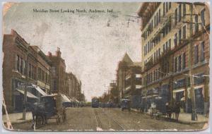 Anderson, Ind., Meridian Street looking North - 1911