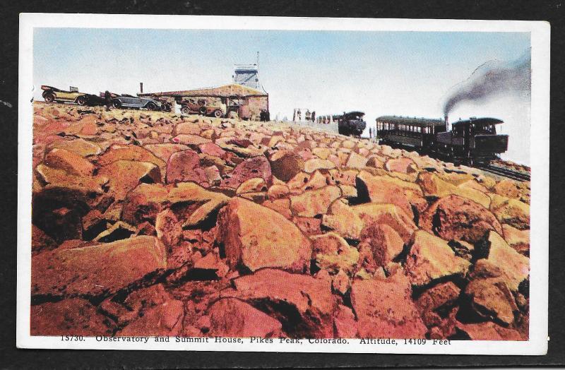 Rock View Summit House Pikes Peak Colorado Unused c1920s