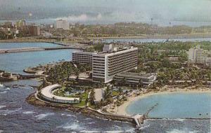 Aerial View, Caribe Hilton, San Juan, Puerto Rico, 40-60s